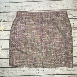 J. Crew Pink Patterned Tweed Skirt NWT